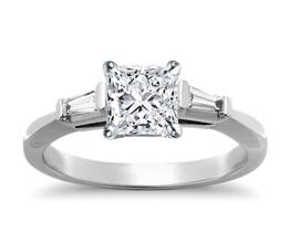 BN Tapered Baguette Diamond Engagement Ring - Princess cut engagement rings