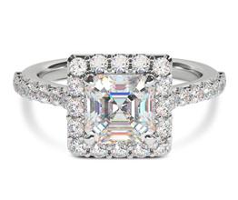 Lafayette Asscher Engagement Ring