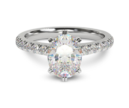 Orchard 6 Prong Oval Engagement Ring