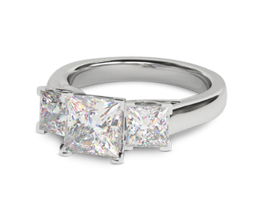 Tribeca Princess Engagement Ring with 1.4ct of side stones