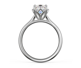 'Mulberry' cushion cut floral diamond engagement ring