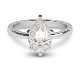 Delancey pear solitaire engagement ring