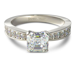 JA Perfect pave engagement ring 1 - Asscher cut engagement rings
