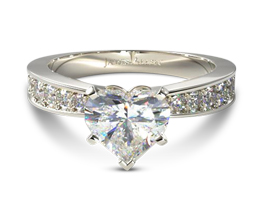 Perfect pavé heart diamond engagement ring