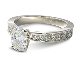 Perfect pavé oval diamond engagement ring