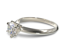 JA Six prong knife edge engagement ring - Solitaire engagement rings