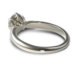 JA modern tulip basket six prong engagement ring - Solitaire engagement rings