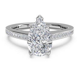 Diamond Micropavé Band Engagement Ring