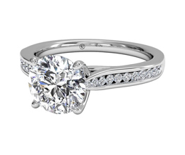 Channel-Set Diamond Engagement Ring With Surprise Diamonds