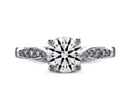 Shelly pavé palladium engagement ring