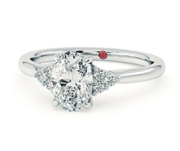 TH Divinity Oval diamond centre and claw set diamonds - Oval Engagement Rings