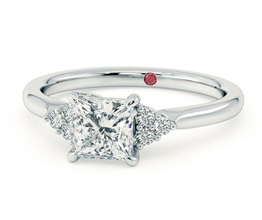 TH Divinity Princess diamond centre and claw set diamonds - Princess cut engagement rings