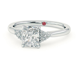 'Divinity' radiant engagement ring with side stones