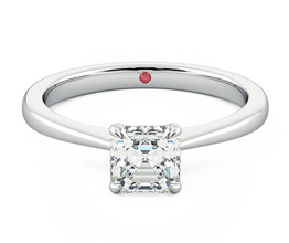 Elysium solitaire asscher engagement ring
