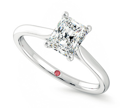 'Hope' radiant claw set engagement ring