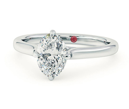 'Joy' Oval diamond four-claw solitaire