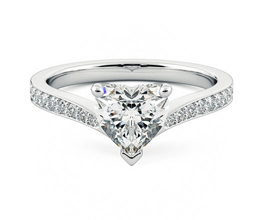 Embrace' heart shaped pavé engagement ring