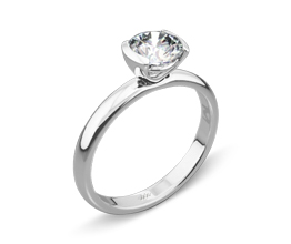 Palladium Eternal Love Solitaire Engagement Ring