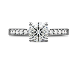 WF Rounded Open Cathredral Diamond Engagement Ring in Platinum gi 3488 3 32883 - Palladium engagement rings