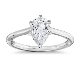 blue nile solitaire pear diamond engagement ring - Pear shaped engagement rings