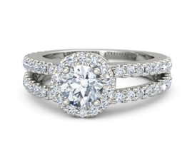 g adelaide round diamond palladium ring with diamond 1 - Palladium engagement rings