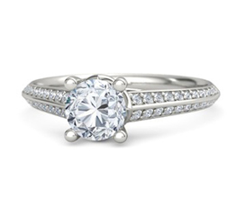 Harper pavé palladium engagement ring