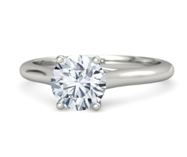 g ivy round diamond palladium ring 1 - Palladium engagement rings