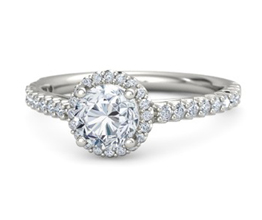 'Regan' halo palladium engagement ring