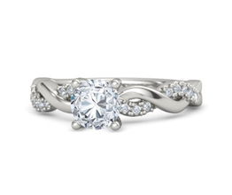 Rowan pavé palladium engagement ring