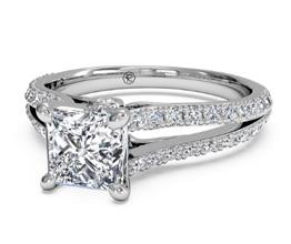 ritani split band princess cut - Princess cut engagement rings