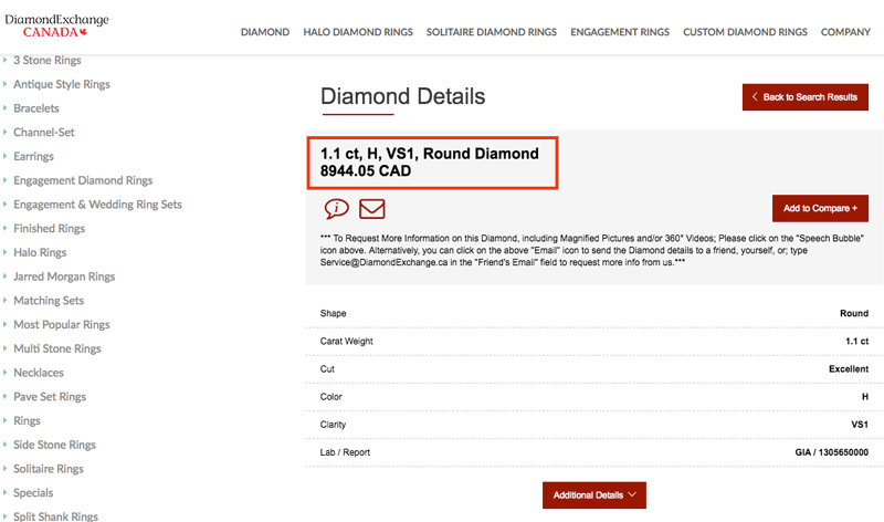 diamonds exchange canada - Importing a diamond or engagement ring into Canada