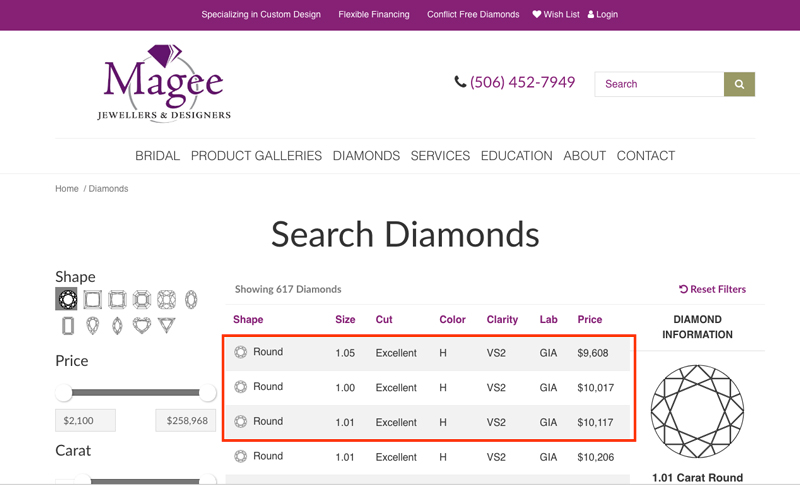 new brunswick local retailer - Importing a diamond or engagement ring into Canada