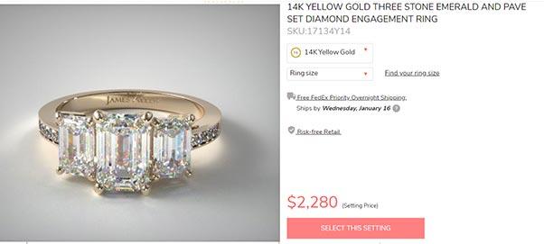 12 Debby Ryans Engagement Ring James Allen Copy - Debby Ryan's Engagement Ring