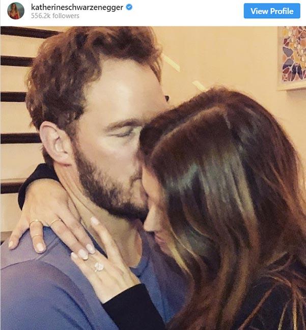 2 Katherine Schwarzeneggers Engagement Ring Instagram Debut - Katherine Schwarzenegger's Engagement Ring