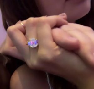 3 Debby Ryans Engagement Ring Instagram Debut e1548395505526 300x283 - Debby Ryan's Engagement Ring