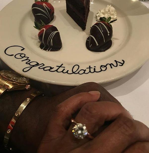 3 Taraji P Hendersons Engagement Ring Instagram Debut - Taraji P Henson's Engagement Ring
