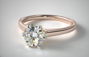 rose gold 6 prong 300x195 - Taraji P Henson's Engagement Ring