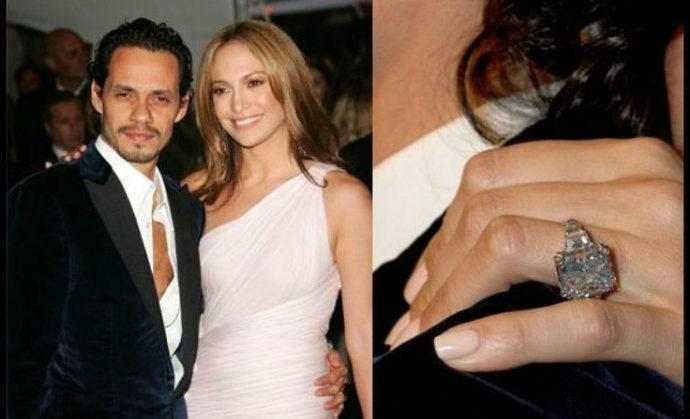 Jennifer Lopez engagement ring marc anthony