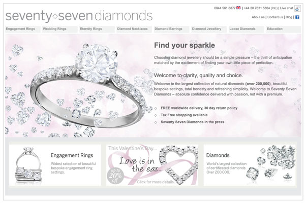 77 diamonds old website - 77 Diamonds review