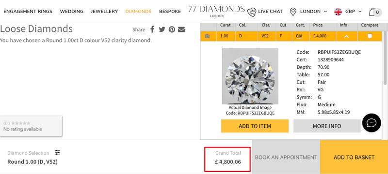 77 diamonds price footer - 77 Diamonds review