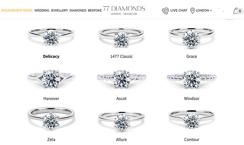 77 diamonds solitiare diamond rings - 77 Diamonds review