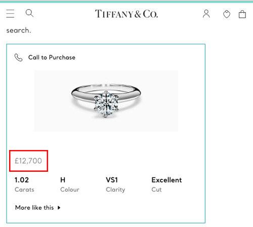 Tiffany diamond soliatire ring - 77 Diamonds review