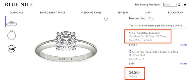 carat diamond real price