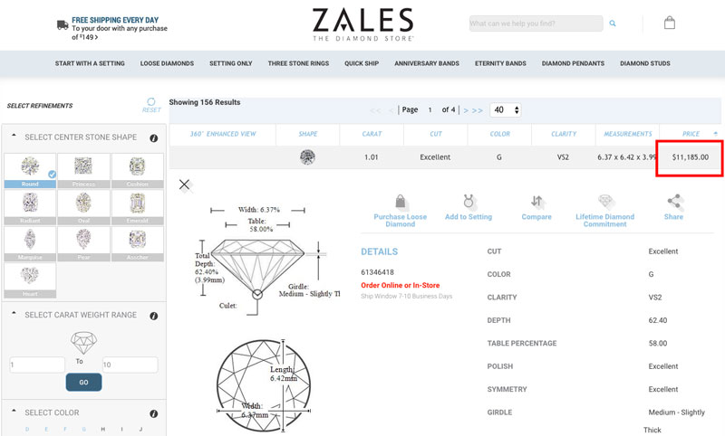 1 carat g color diamond zales - How to sell a diamond ring