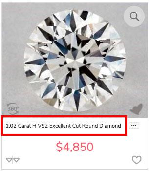 diamond budget H VS