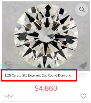 diamond budget J SI