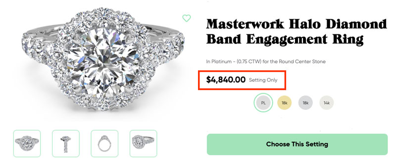 halo diamond engagement ring - How much to spend on an engagement ring