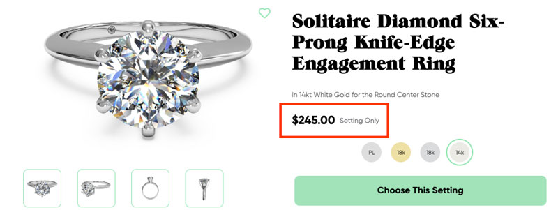 simple solitaire engagement ring setting - How much to spend on an engagement ring