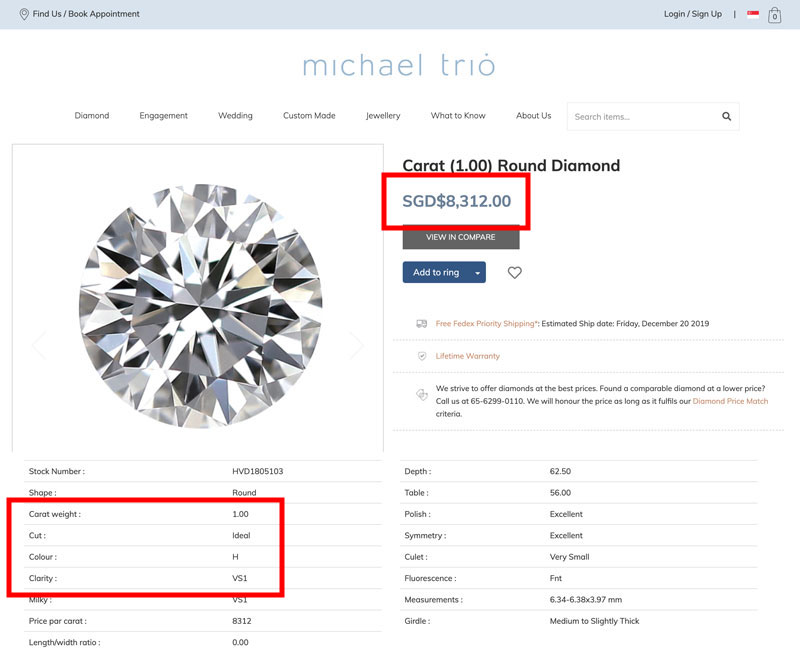 buying diamond locally singapore 1 - Importing a diamond or engagement ring into Singapore
