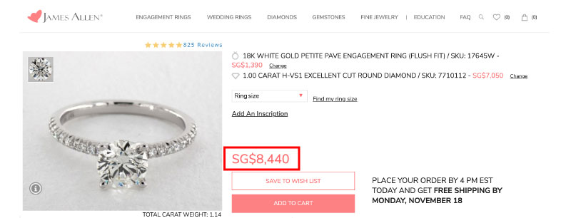 diamond ring importing singapore comparison price - Importing a diamond or engagement ring into Singapore